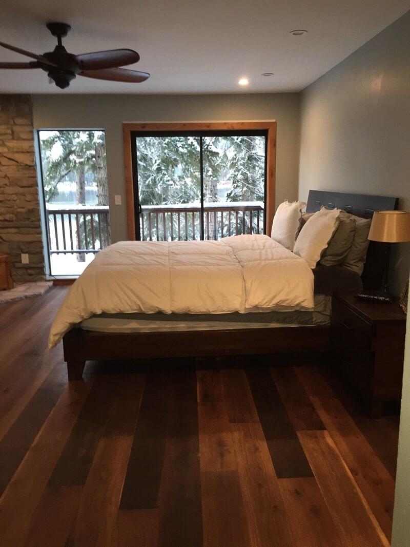Bedroom hardwood floors in Folsom CA from Designing Dreams Flooring & Remodeling