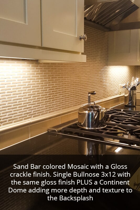 Gloss finish kitchen backsplash in Princeton KY from Coal Field Flooring