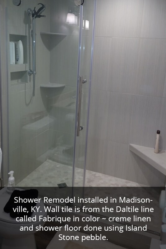 Shower stone in Central City KY from Coal Field Flooring