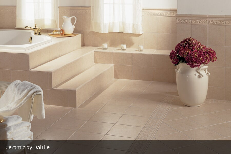 Luxury ceramic bathtub tile in Fredonia KY from Coal Field Flooring
