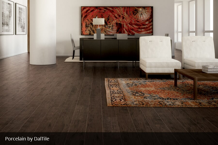 Wood look tile in Madisonville KY from Coal Field Flooring