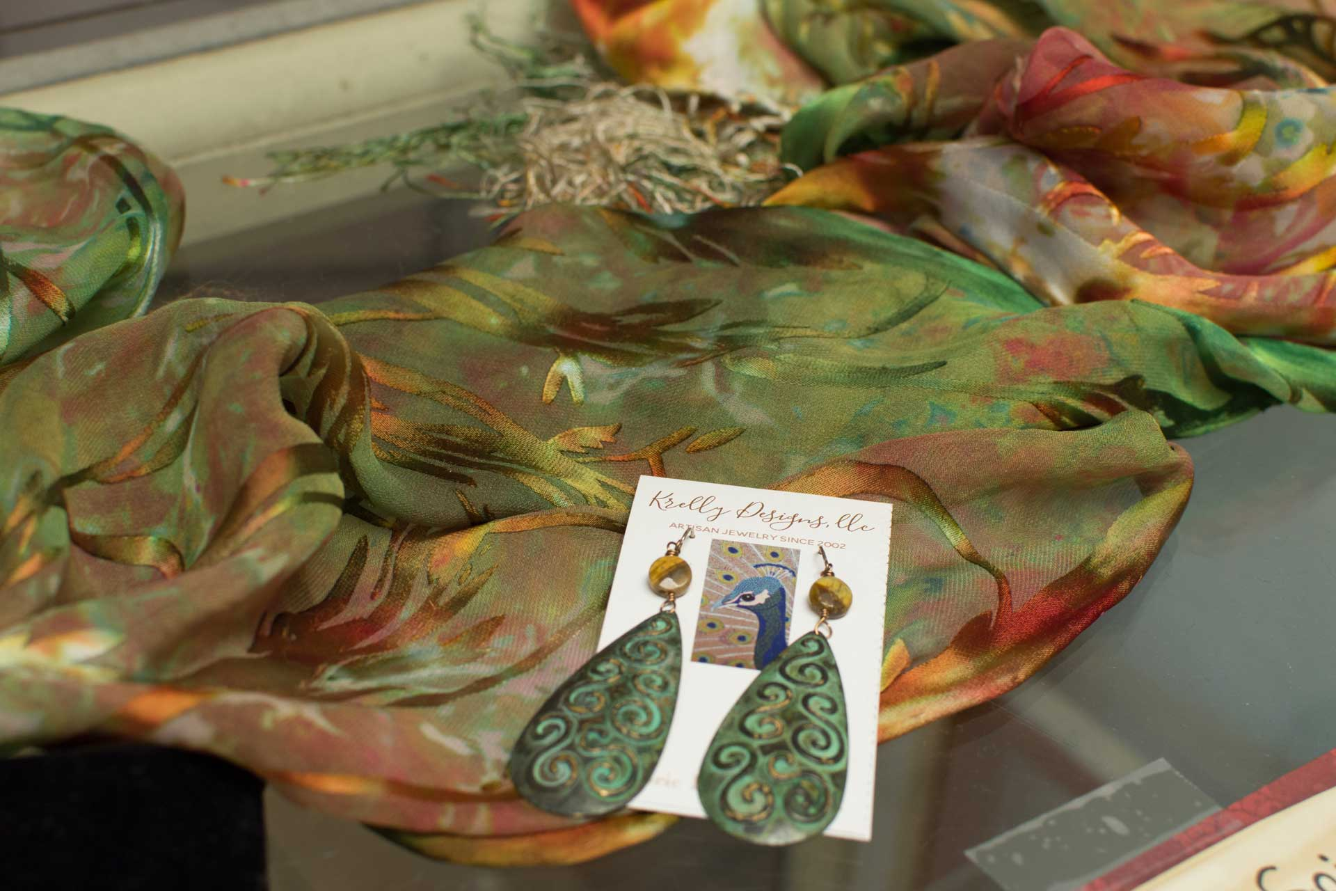 Earrings and Scarves by Krelly Designs