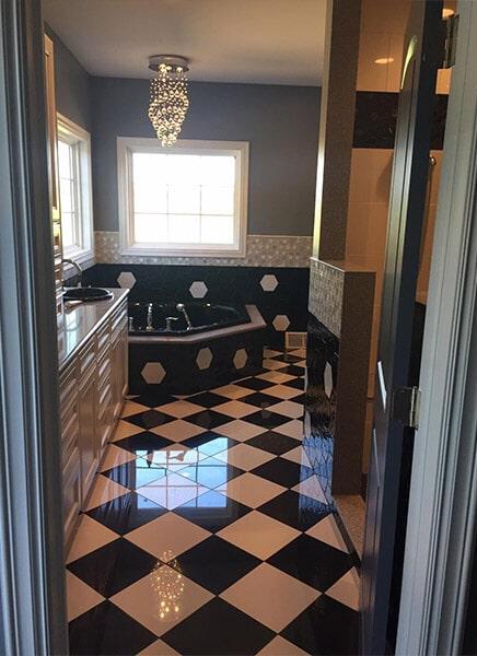 Tile floor installation in Zanesville OH from Lavy's Flooring