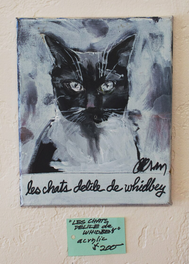 """""""Les Chats Delile de Whidbey"""" Acrylic Painting"""
