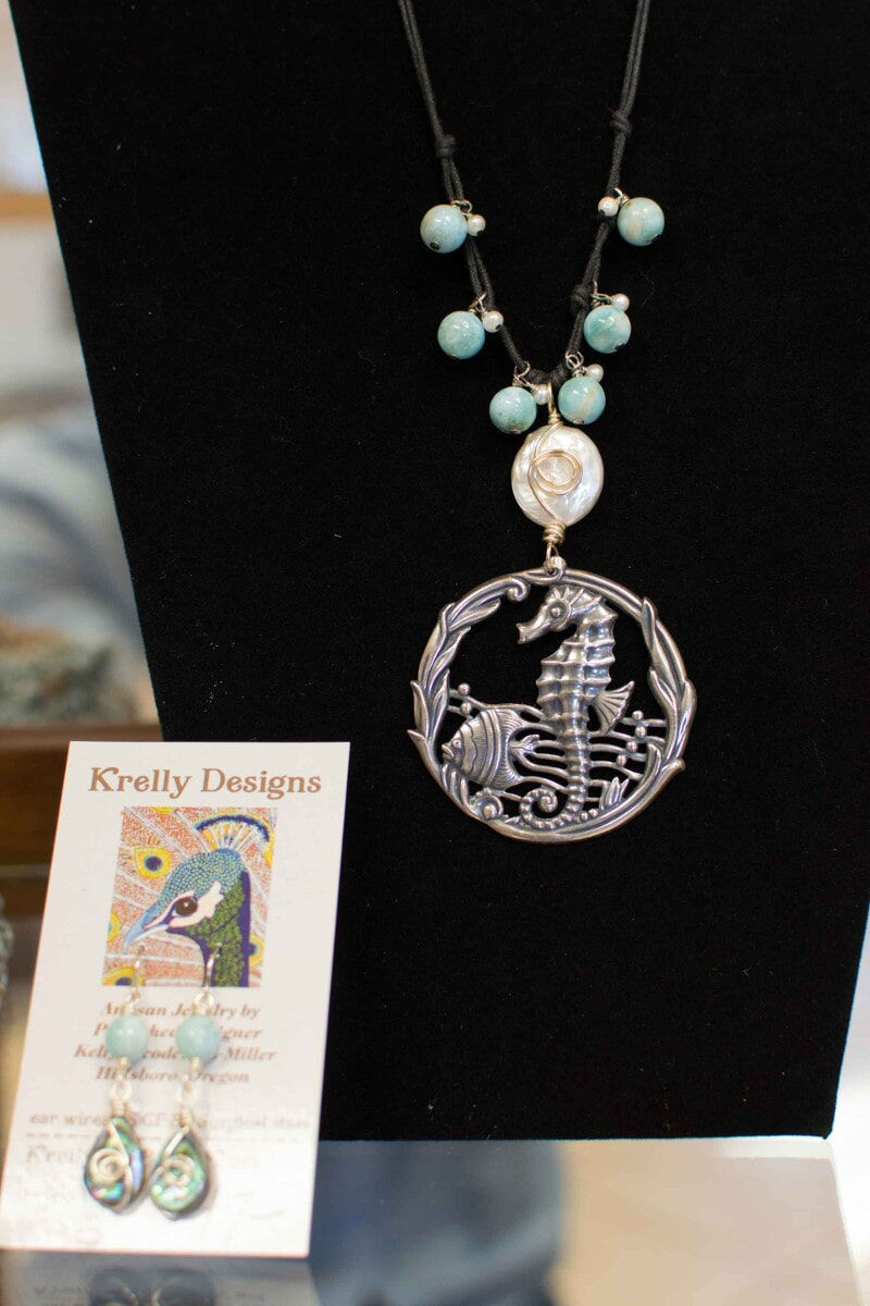 Necklace and Earrings by Krelly Designs