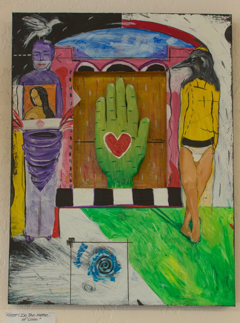 """""""STOP! In the Name of Love"""" - Mixed Media by Eustace Prophet"""