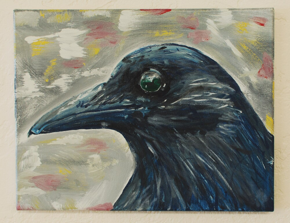 """""""Old Crow"""" - Acrylic Painting"""