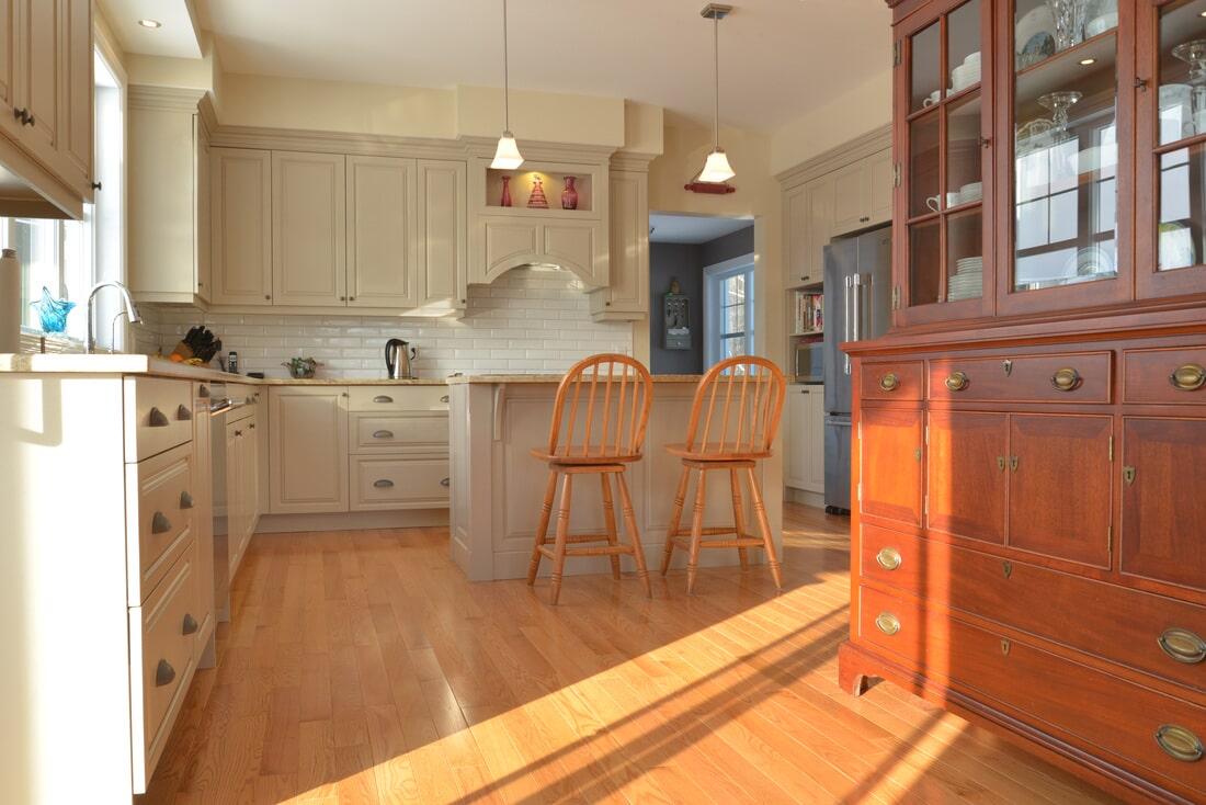 Kitchen hardwood floors in Woodstock NH from Carpet Mill Flooring USA