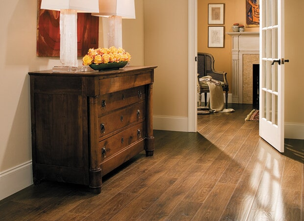 Wood look laminate floors in Woodstock VT from Carpet Mill Flooring USA