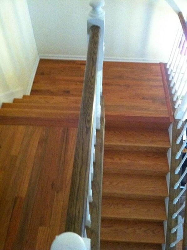 Staircase installation in Clinton NJ from Washington Flooring