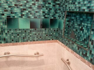 Luxury tile bathroom in Tampa Bay FL from Relo Interior Services