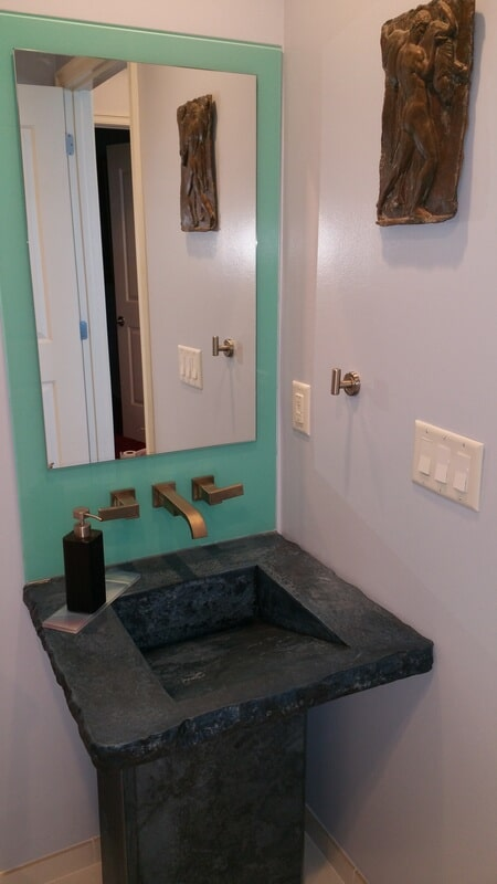 Stone sink bathroom in Pinellas County FL from Relo Interior Services