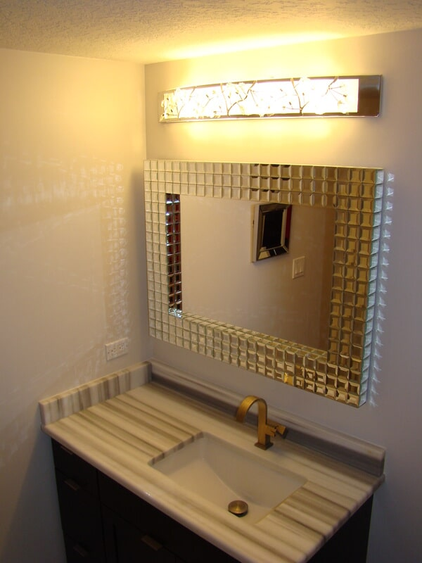 Modern bathroom in South Tampa FL from Relo Interior Services