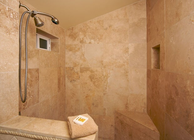 Stone bathroom shower in Tampa FL from Relo Interior Services