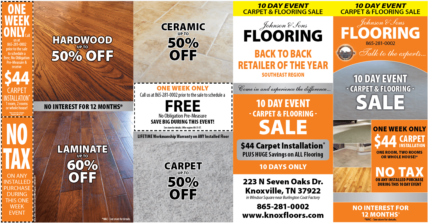 Johnson and Sons Flooring sales page 1