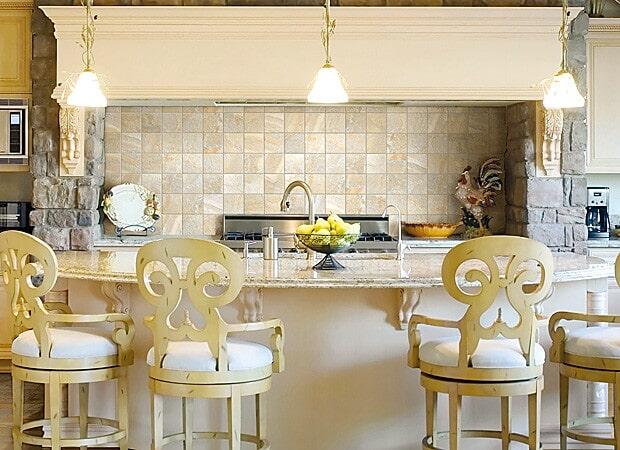 Cream colored countertops