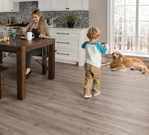 Family friendly luxury vinyl floors in Frankenmuth MI from Worden Interiors