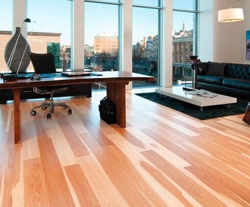 sleek hardwood floors in Fremont MI from Herb's Carpet & Tile