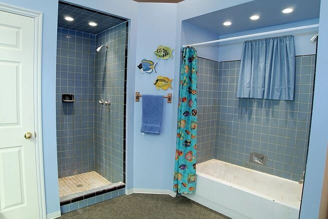 Before Shower Liner Installation