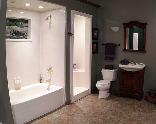 After Shower Liner Installation