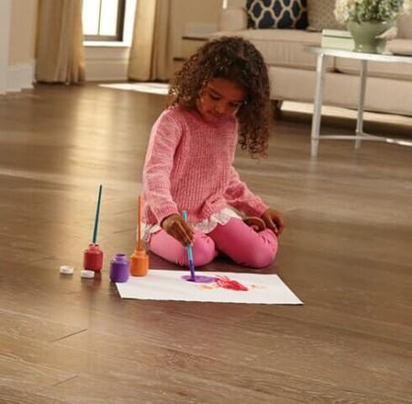 Family-friendly hardwood flooring in Johns Creek, GA from P&Q Flooring