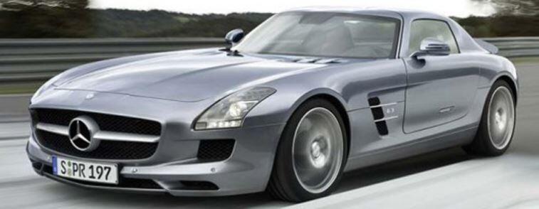 restored Mercedes