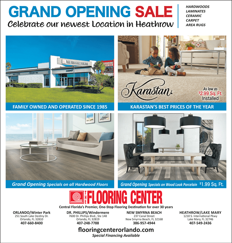 Grand Opening Sale with The Flooring Center in Heathrow, FL