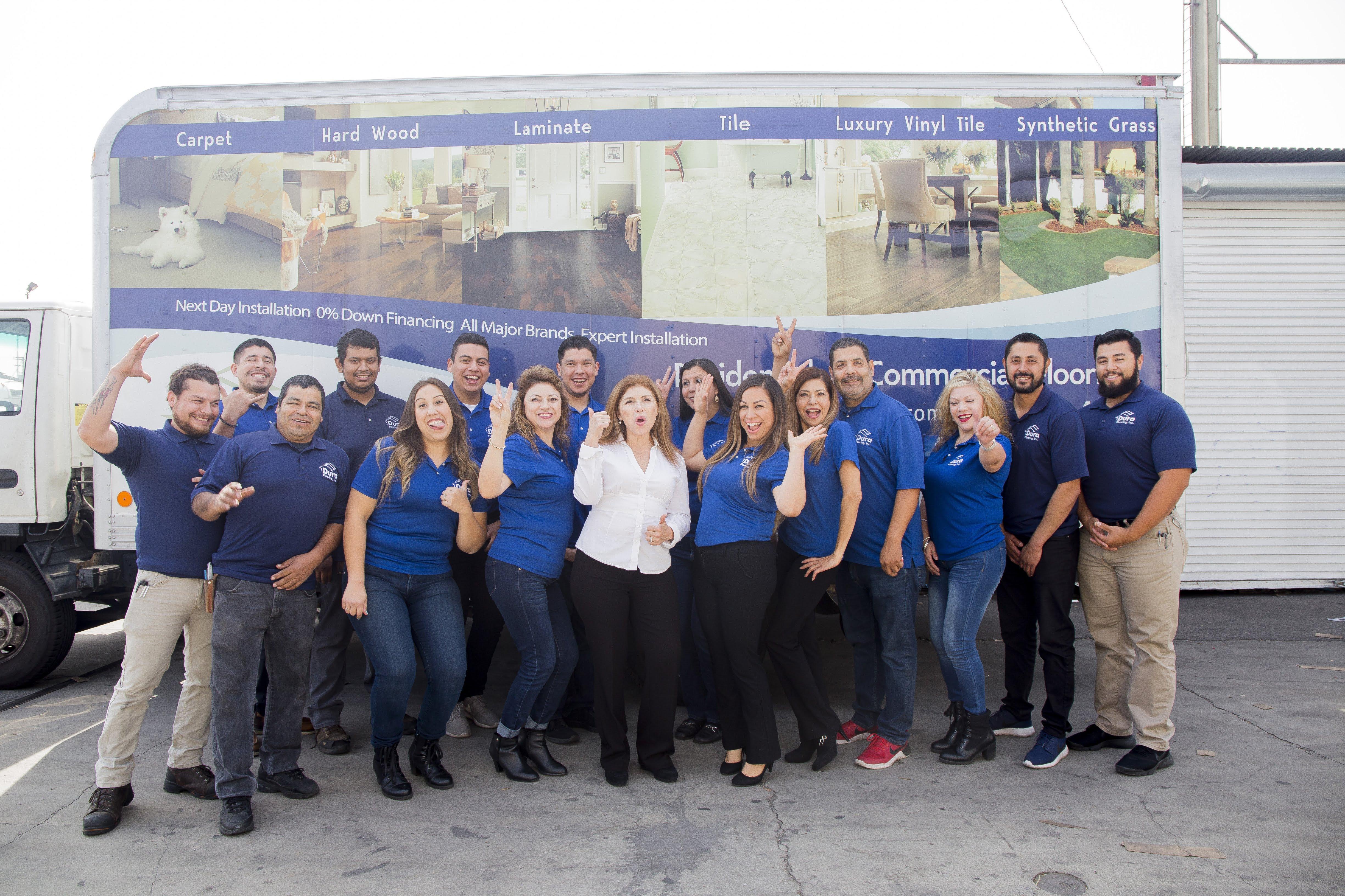 The Dura Flooring, Inc. team in Commerce, CA