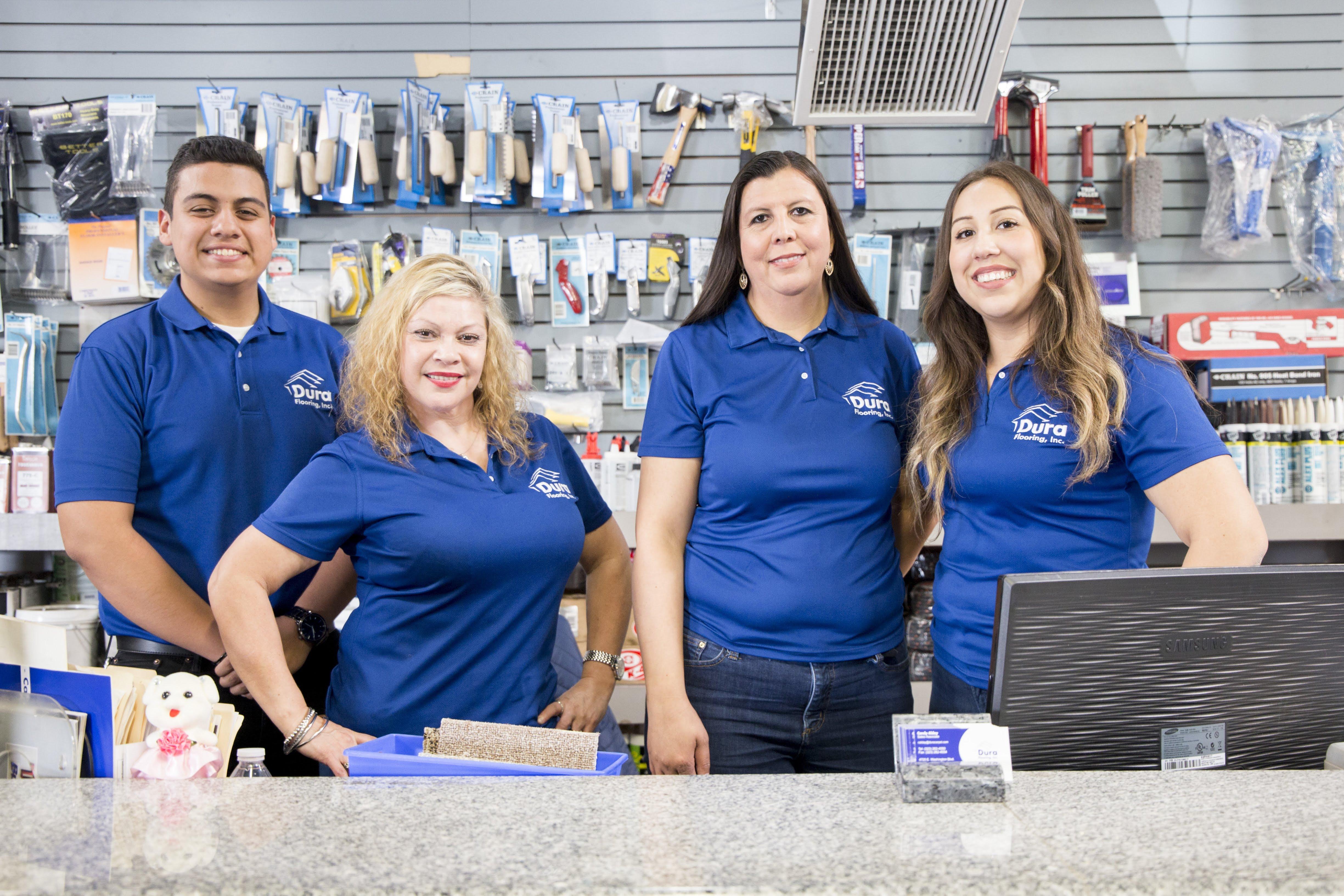 The Dura Flooring, Inc. wholesale team in Commerce, CA