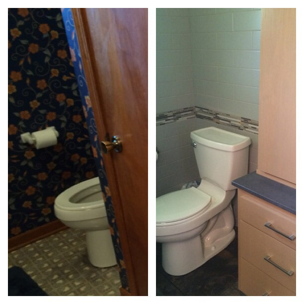 Before & after photos in Gonzales, LA from Marchand's Interior & Hardware