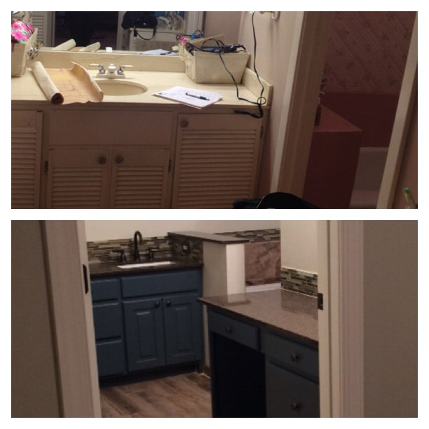 Before & after photos in Prairieville, LA from Marchand's Interior & Hardware
