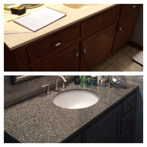 Before & after photos in Donaldsonville, LA from Marchand's Interior & Hardware