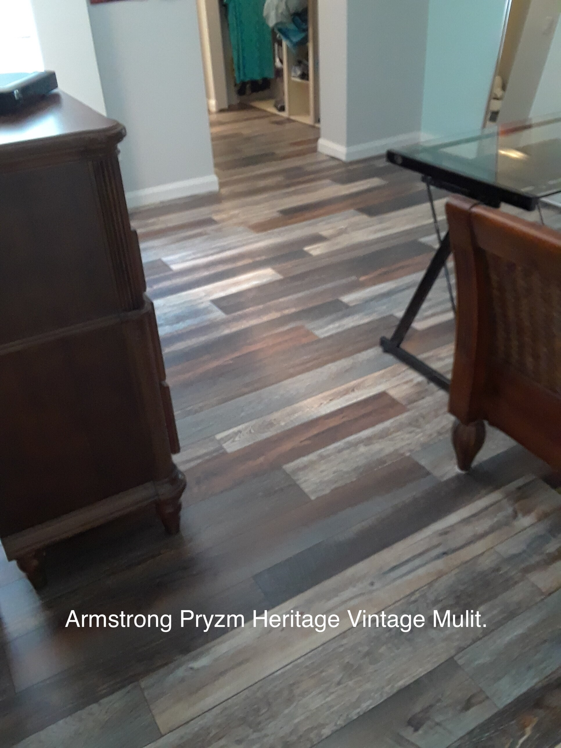 Luxury vinyl floor installation in Stuart FL by Floor Specialists of Martin County