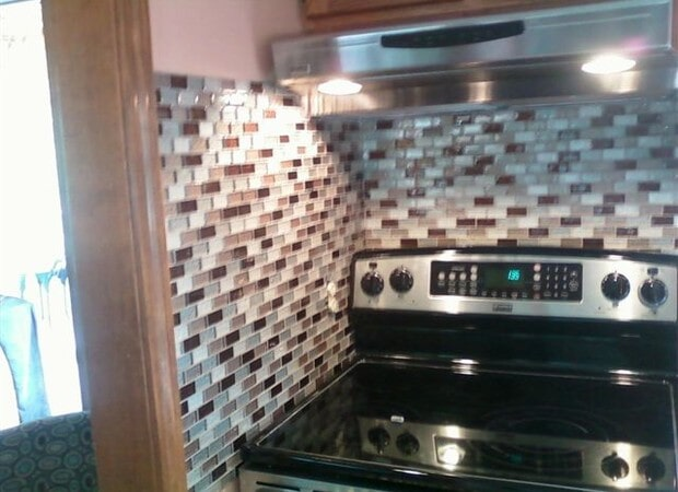 Use Only A Mosaic For Your Backsplash To Create A Contemporary Look
