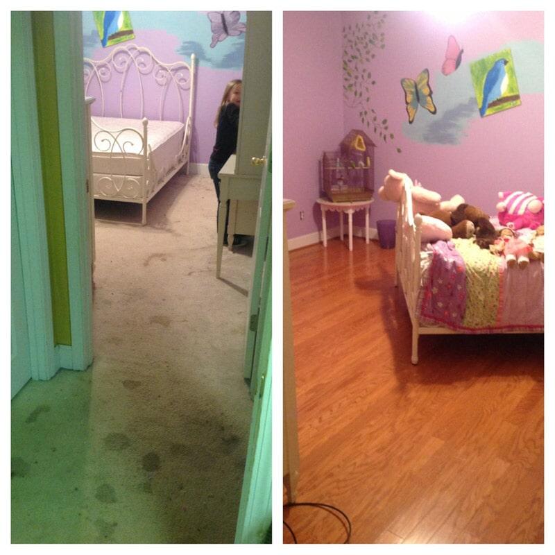 Before & after photos in Birmingham, AL from Sharp Carpet + Hardwood & Tile