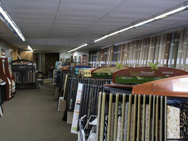 The Rosendale Flooring Company flooring showroom in Rosendale, NY
