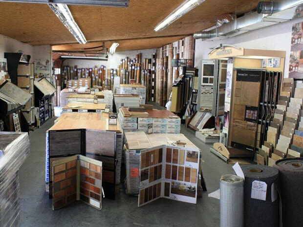 The flooring showroom of Rosendale Flooring Company in Rosendale, NY
