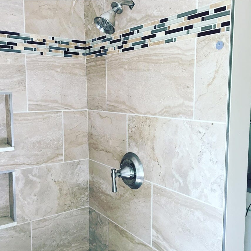 Custom shower installation in Carlisle, PA from Harrisburg Wall & Flooring