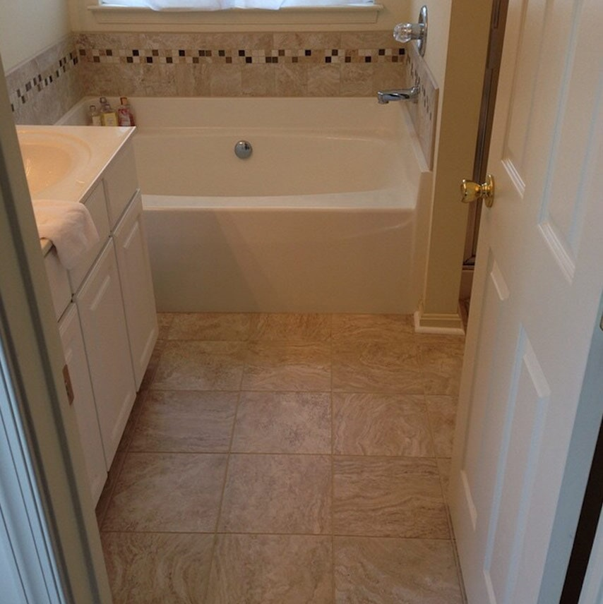 Bathroom installation in Hummelstown, PA from Harrisburg Wall & Flooring