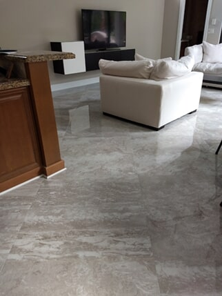 Tile flooring installation from Capitol Carpet & Tile and Window Fashions in Delray Beach, FL
