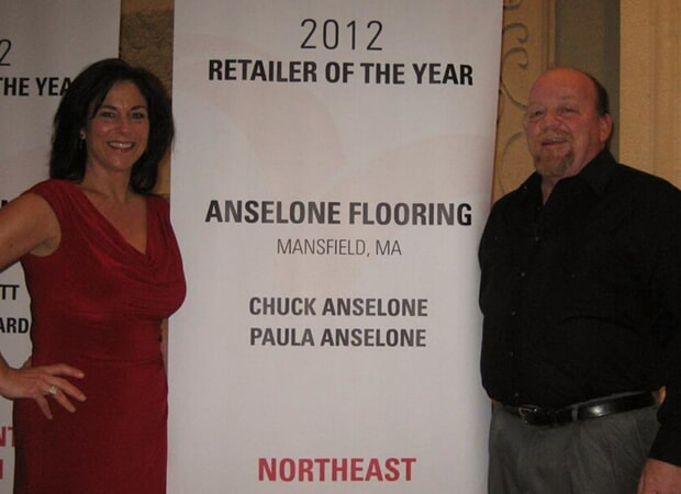 Chuck and Paula Anselone - owners of Anselone Flooring in Mansfield & Norwood, MA