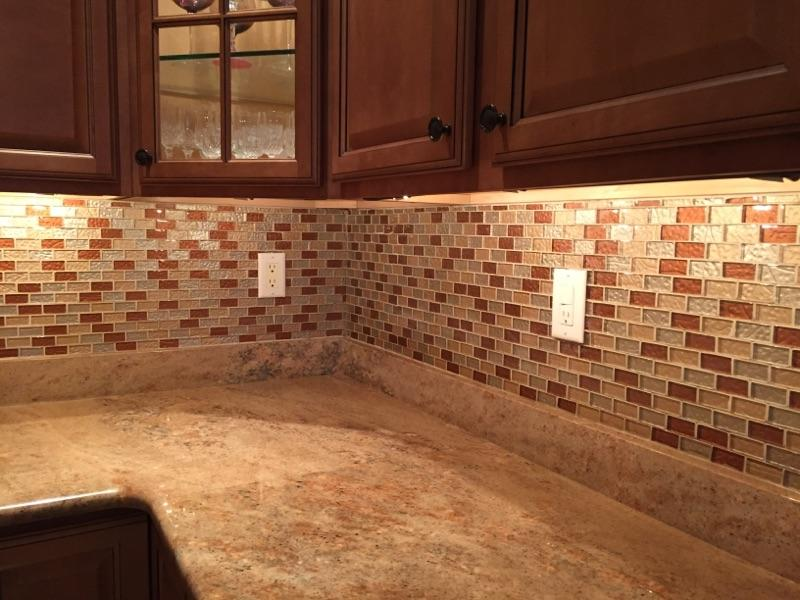 Custom kitchen backsplash in Brooklyn, NY from Buono's Flooring
