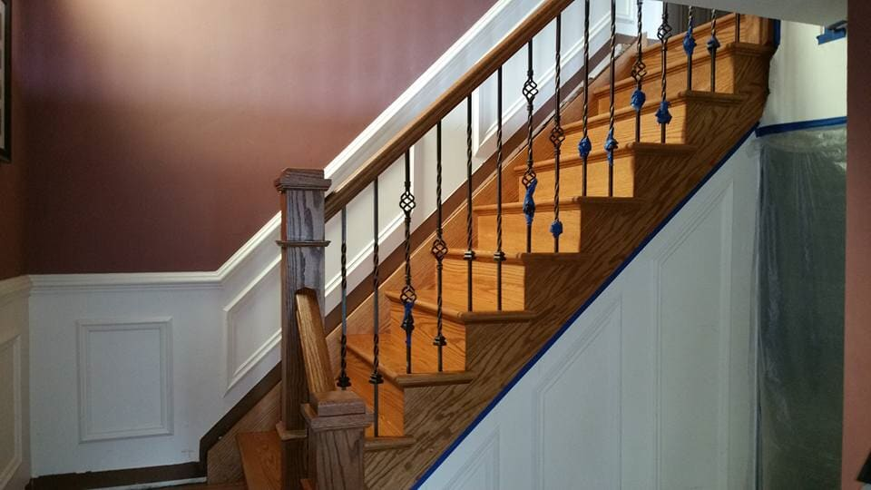 Staircase floor covering in Staten Island, NY from Buono's Flooring