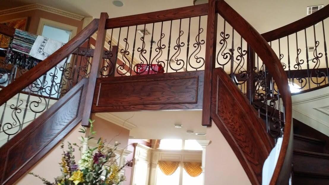Custom staircase in Staten Island, NY from Buono's Flooring