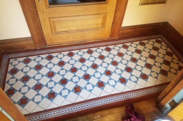 Accent tile flooring entryway from  Summerlin Floors in Deerfield, MA