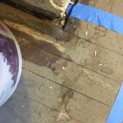 Floor restoration in Glen Burnie, MD (Before)
