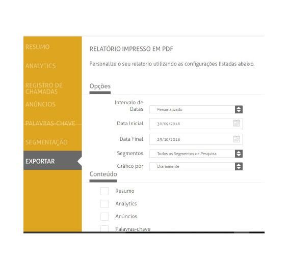 RELATÓRIOS - IMPRESSÃO EM PDF