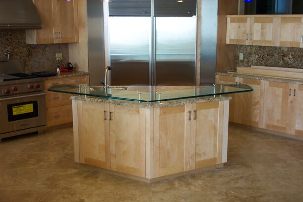 Counter top glass