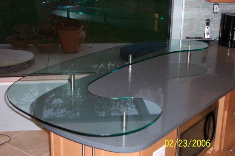 View of a table top glass