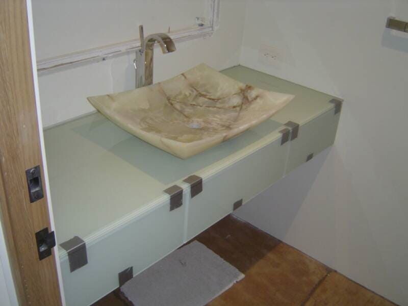 View of installed bathroom sink